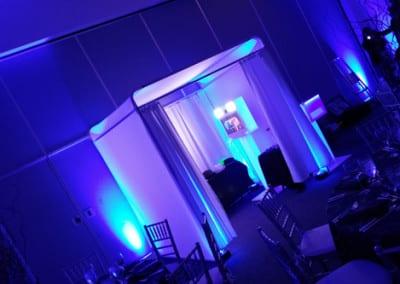 Elegant booth enclosure